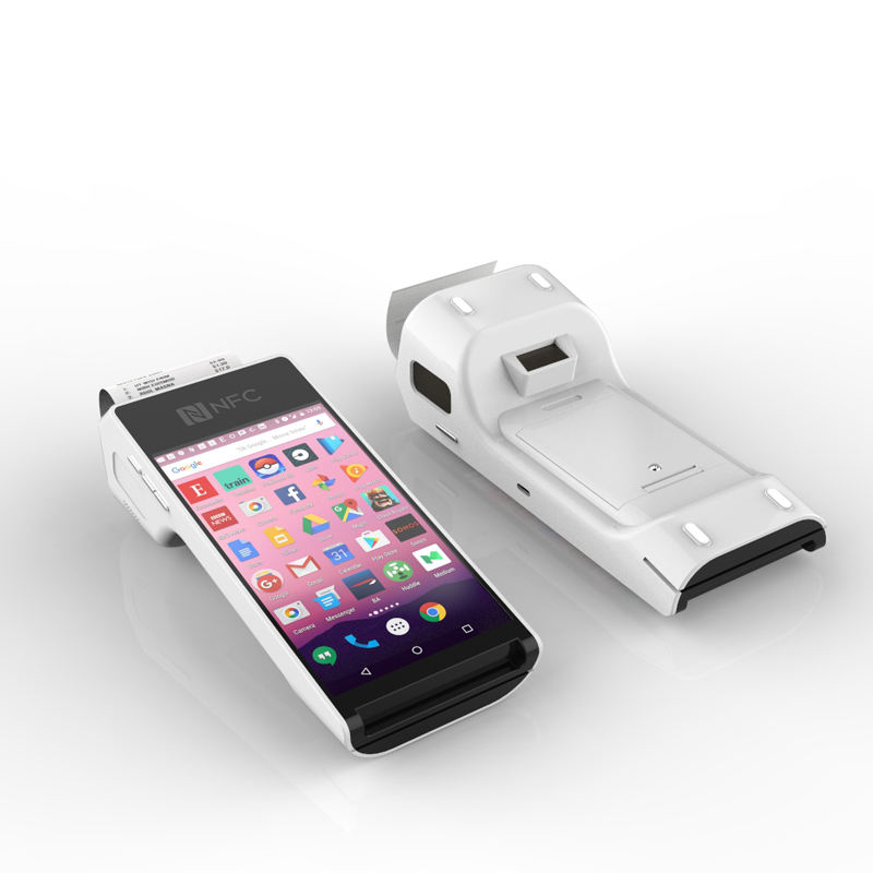 NEW Arrival Handheld Android Wireless POS Terminal With Printer NFC Barcode Scanner & Fingerprint