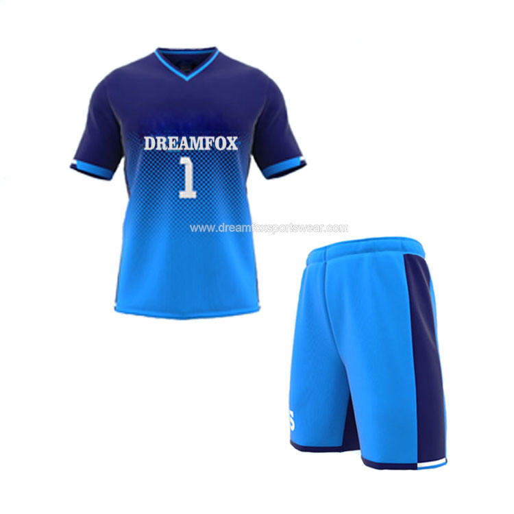 new style custom blue color soccer jersey shirt for athlete,latest football jersey soccer clothing set design your own