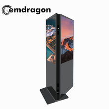 Standee Two Side Display digital signage totem 32 Inch Dual Screen Kiosk For Indoorfloor standing kiosk advertising led display