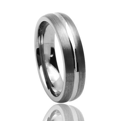 8 мм матовый кольца из карбида вольфрама с пустым кольцо для инкрустации мужская или Женская Группа