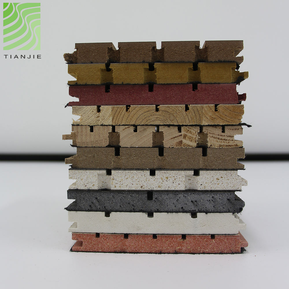 Tianjie Acoustic panels Factory Grooved wooden panel sound blue sky acoustic ceiling