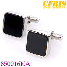 Men shirt accessory fashion stainless steel cufflinks back