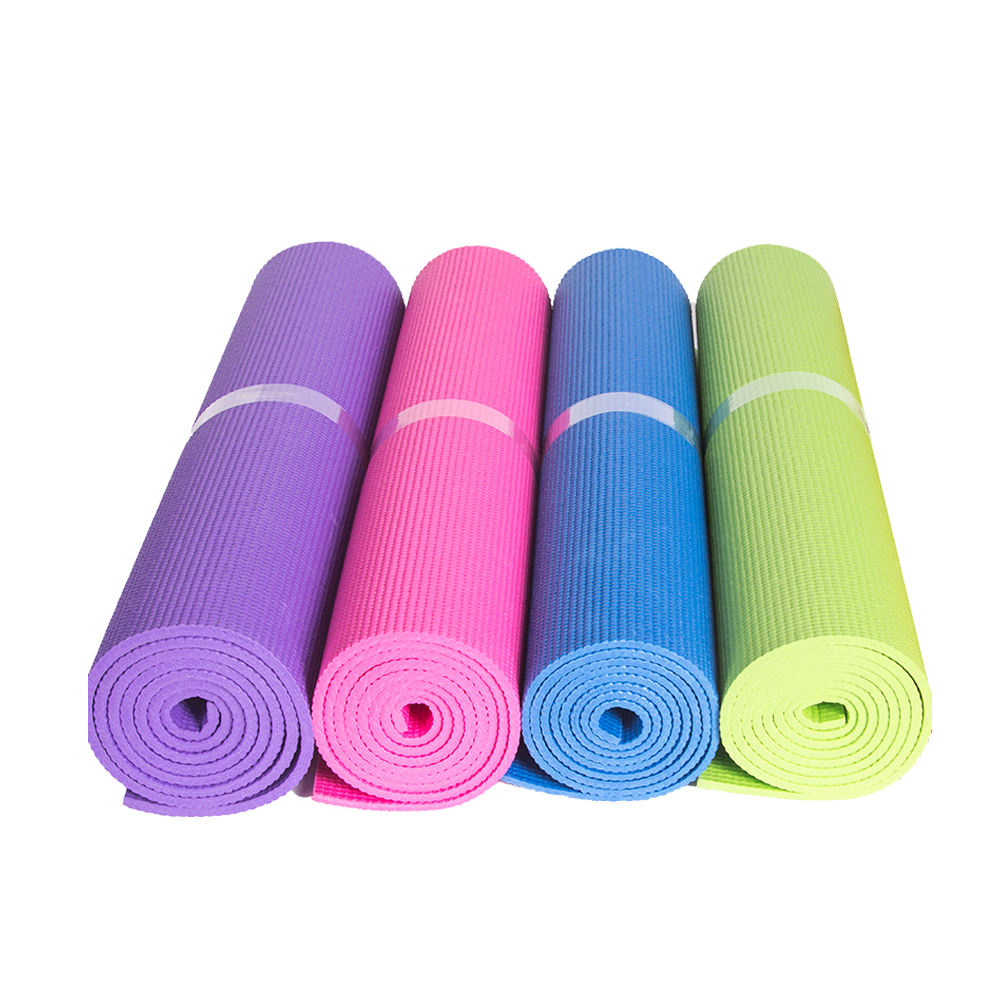 Eco Friendly Gym Pvc Custom Print Yoga Mat 3mm 4mm 5mm 6mm 8mm With Carry Strap