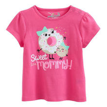 ST-323G top 100 child model girls summer boutique short sleeve children t shirt