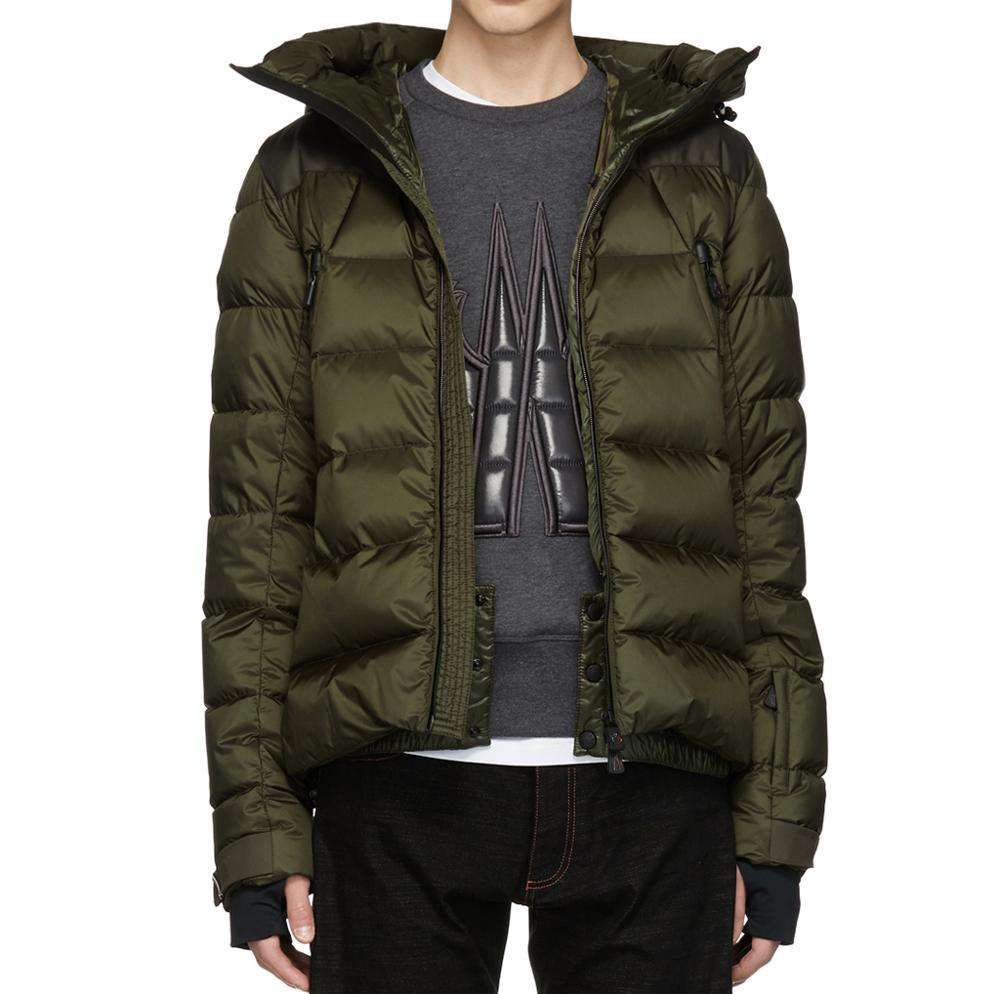 Custom logo Fashion Mens puffer nylon twill down-filled parka winter down jackets