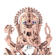 Crystocraft Rose Gold Plated Metal Lord Ganesha Ganpati Idol Statue Decorated with Crystals from Swarovski Diwali Gift