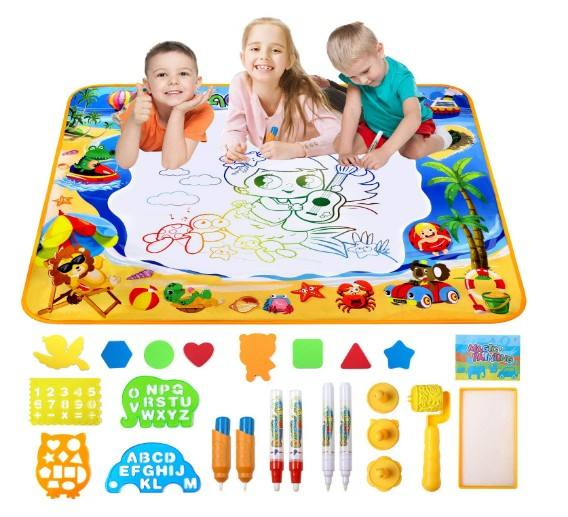 amazon hot selling Doodle Mat Large Aqua Magic Water Drawing Mat for children Aqua mat for Kids Educational Toys