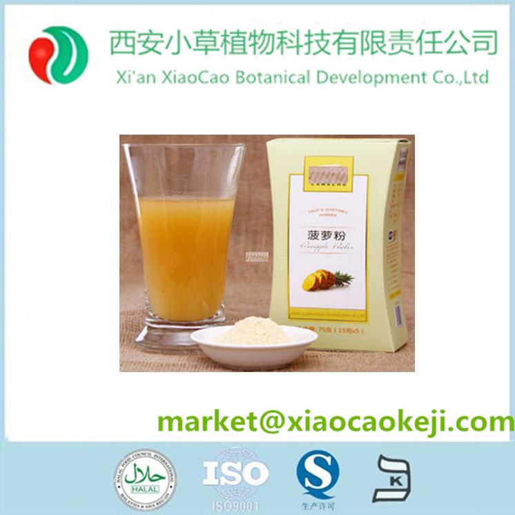 Perda de peso do produto comestível abacaxi extrato da fruta bromelina pó