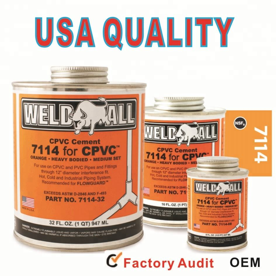 USA Formula Heavy duty CPVC Solvent cement/cpvc pipe glue for pipe and fittins