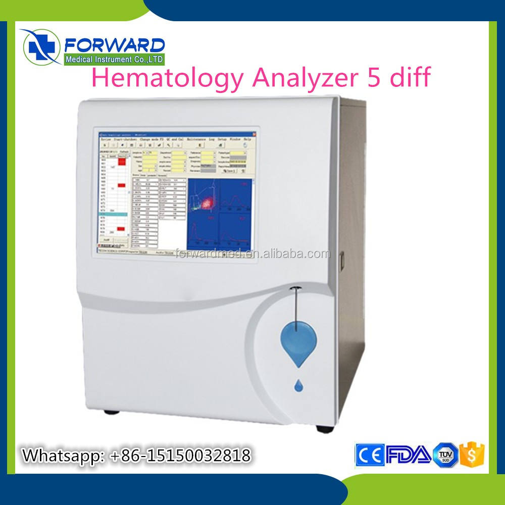 Goedkoopste Blood Cell Analyzer Volautomatische/60 Tests/H Cbc Machine/Lage Hematologie Analyzer Prijs