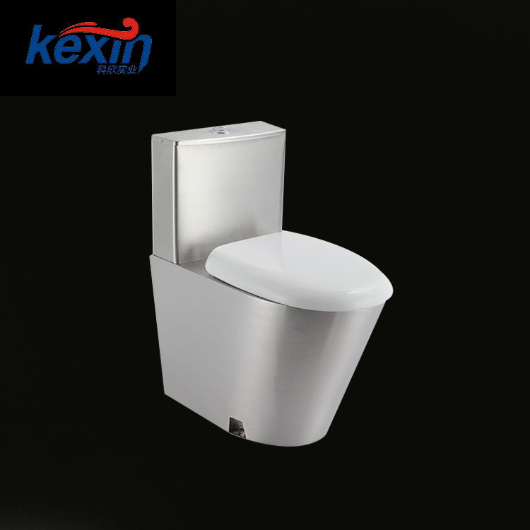 Modern Flushing System Sanitary Ware Stainless Steel One Pcs Basement Toilet, Luxury Toilet Bowl