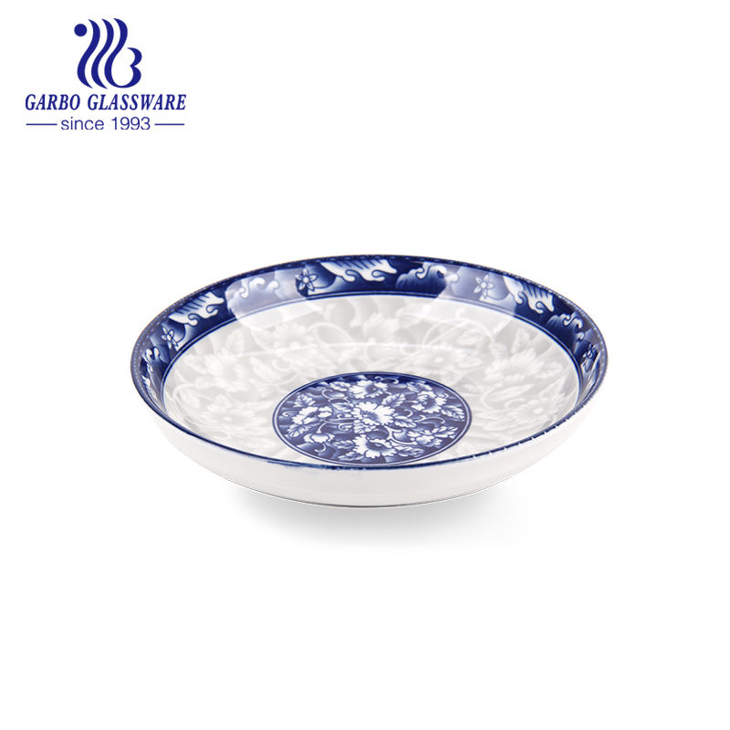 7in Wholesale Blue and White Ceramic Soup Plate TC23006179 HCS-673