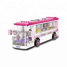 XingBao City Girl Series The School Bus Set Building Blocks Bricks Educational Funny Toys Model For Kids Gifts