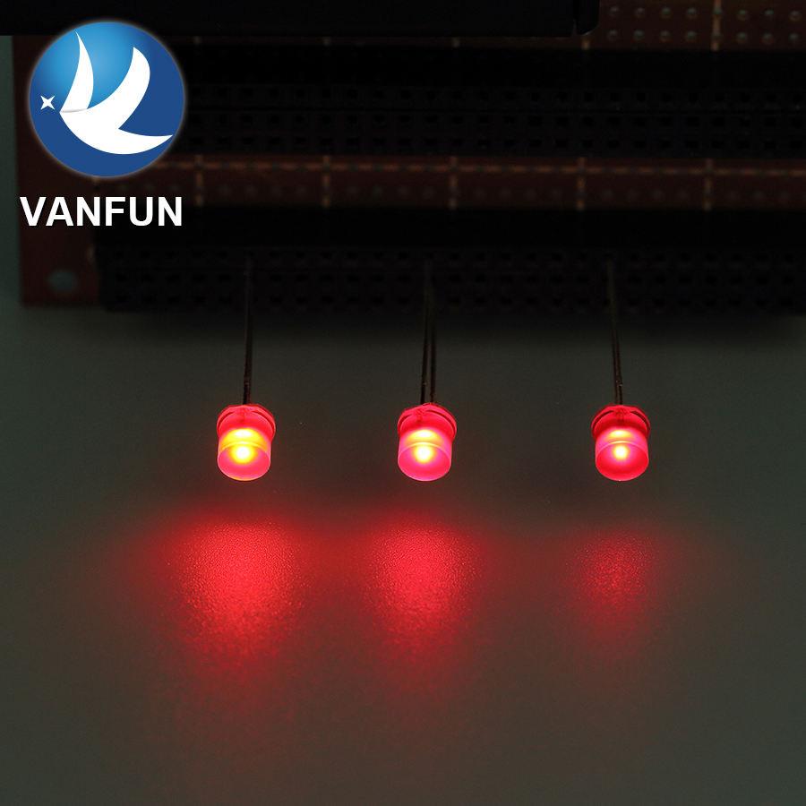 100 x LED 3mm Orange Amber Fast Flashing Blinking Strobe Ultra Bright LEDs 2Hz