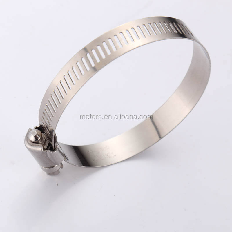 High Pressure American or German Type Stainless Steel Worm Drive Spring Pipe Hose Clamp