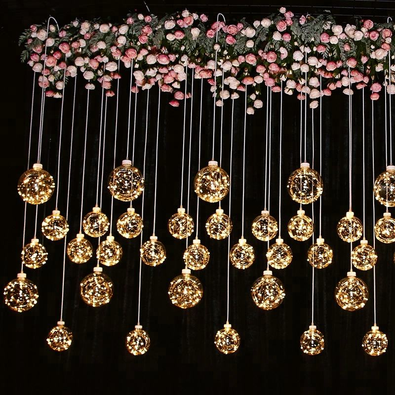 Star spring Led light drop ceiling hanging wedding deco for weddings party event decoration