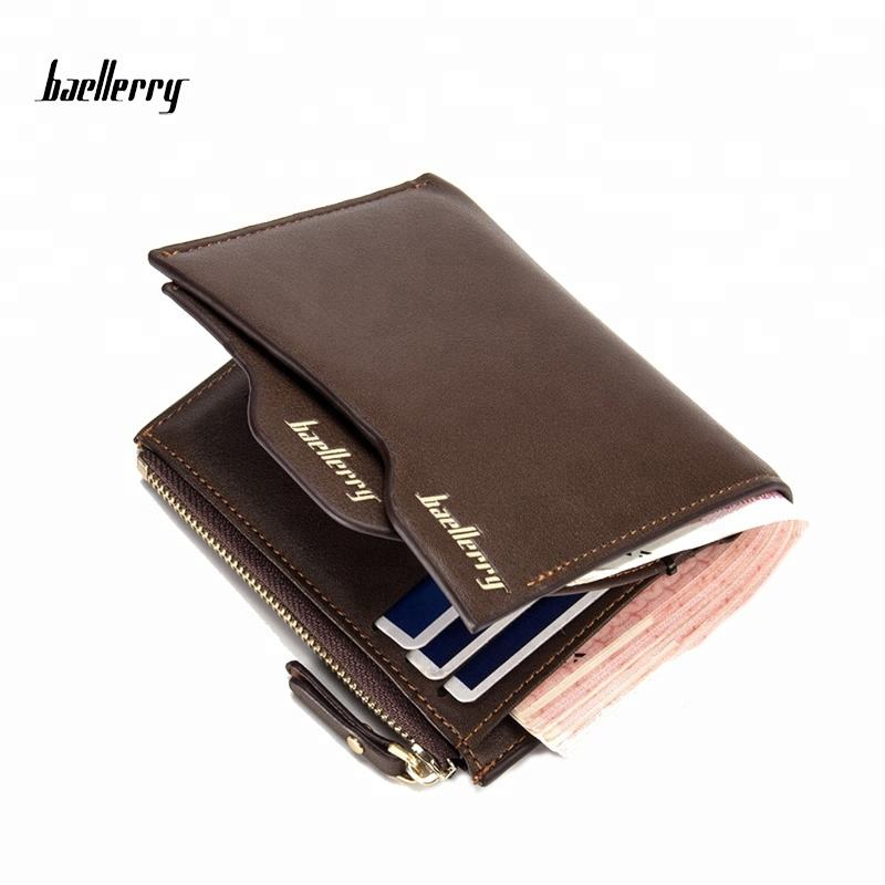 Baellerry New 2017 Men Wallets Coin Purse Male Money Purses Soft Card Case Bags New Classic Soild Pattern Designer Wallet