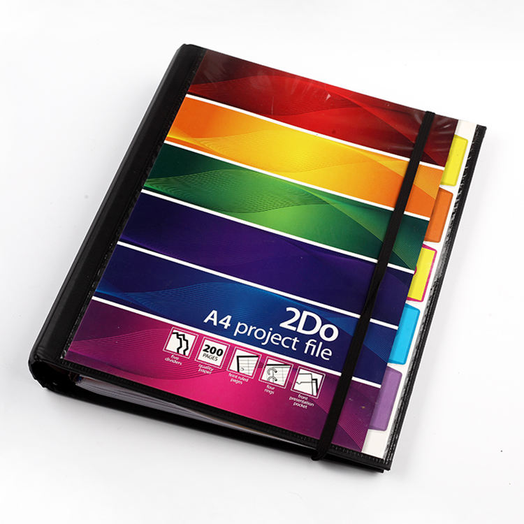 Project a4 Cover 200 sheets spiral PU Filler Notebook, Loose Leaf Notebook