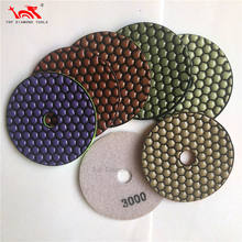 Diameter 100mm And 125mm Flexible Diamond Dry Polishing Pads For Granite Stone