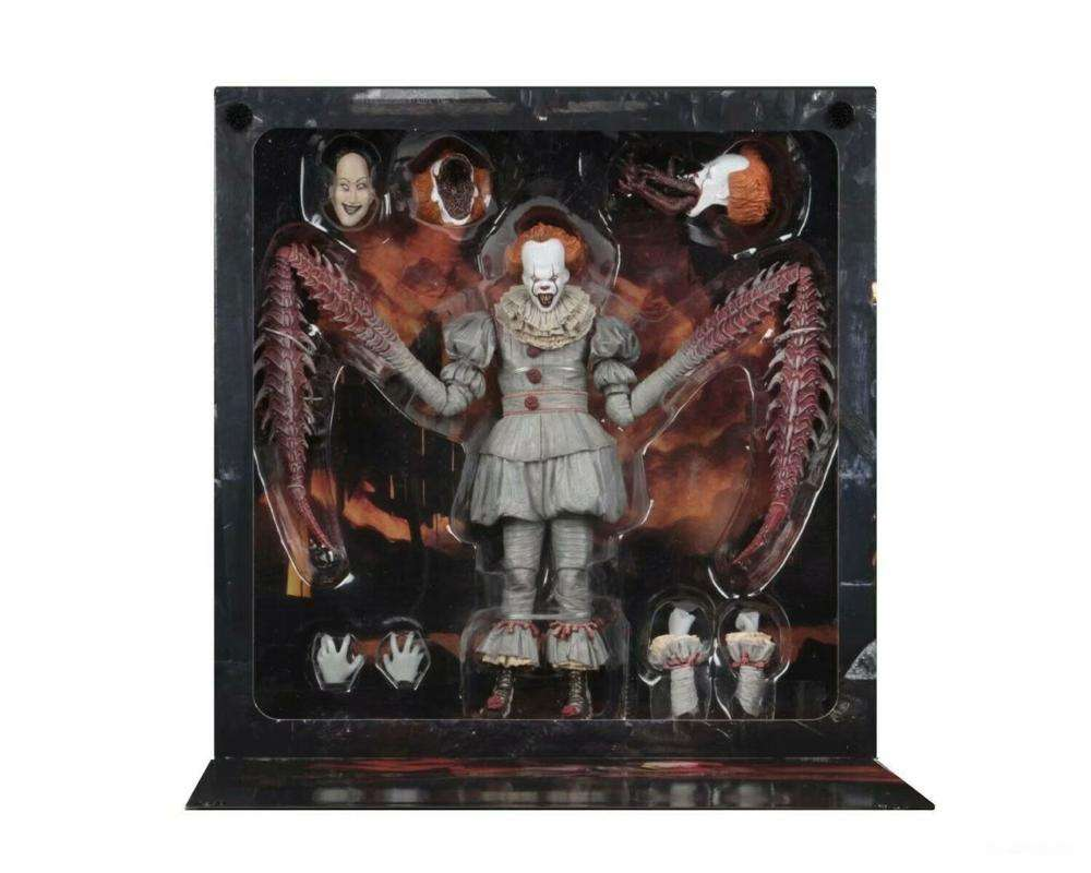 (Hot selling) Newest 7inch Scale Neca It Pennywise The Dancing Clown Action Figure, High Quality NECA IT Pennywise for gifts