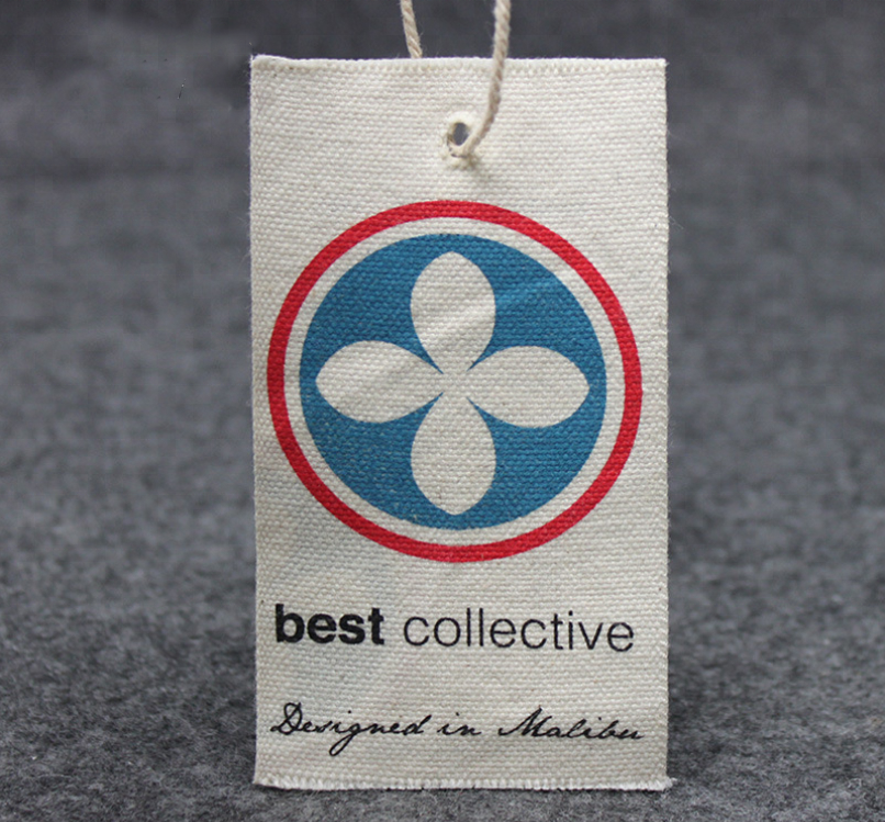 Natural Cotton Canvas Fabric Hang Tag