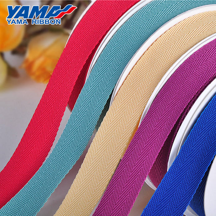 Wholesale popular solid color 100% cotton webbing tape for seat belt