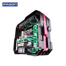 IPason Amd Ryzen 7 2700X 8 Core RTX 2080 Gddr6 8G Graphics Card DDR4 16Gb Split Water Cooling Gaming Desktop Computer
