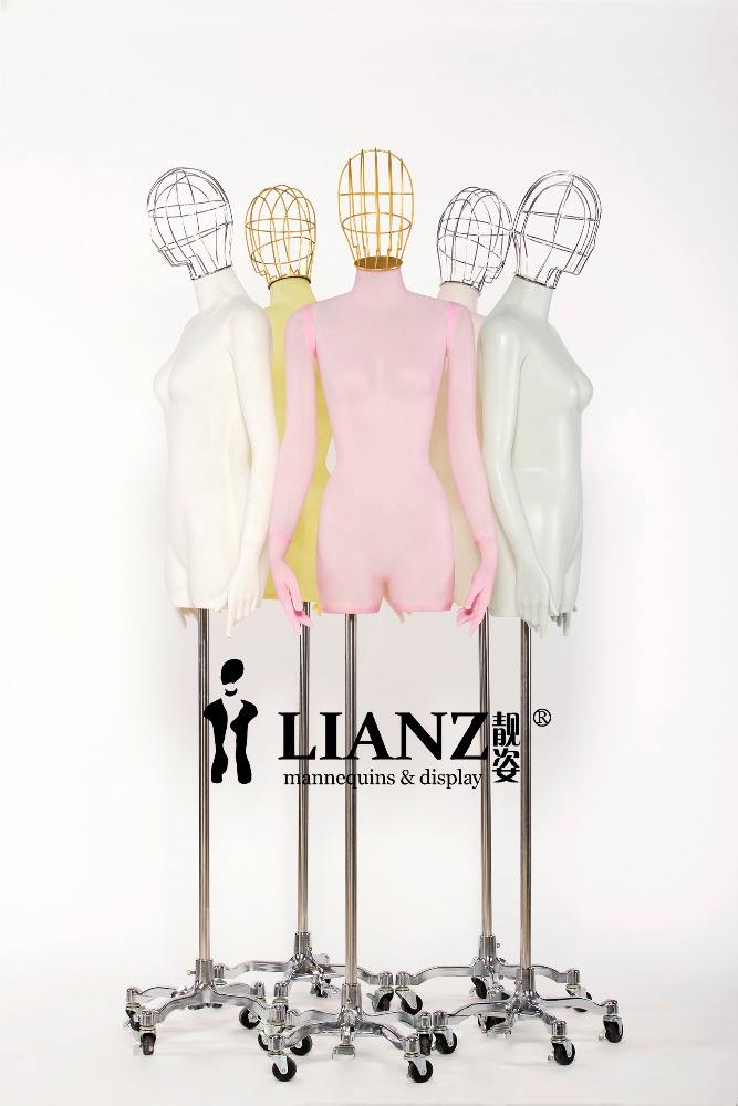 New arrivals transparent plastic mannequin with wire head