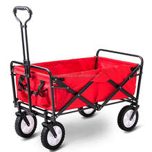 Foldable Pull Wagon Hand Cart/Garden Transport Cart/ Collapsible Portable Folding Cart