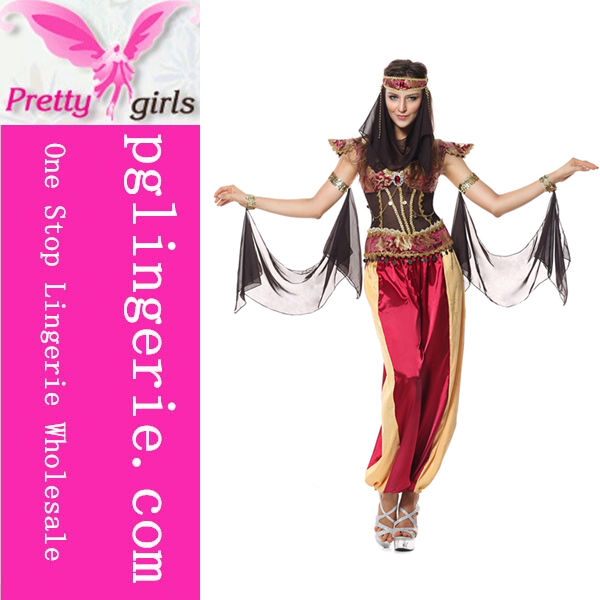 Vendita caldo gypsy vestito operato per belly dancer arabian costume