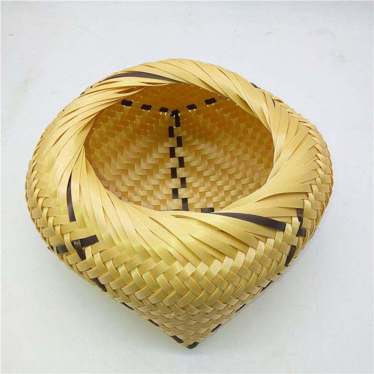 Custom wholesale plastic bamboo basket