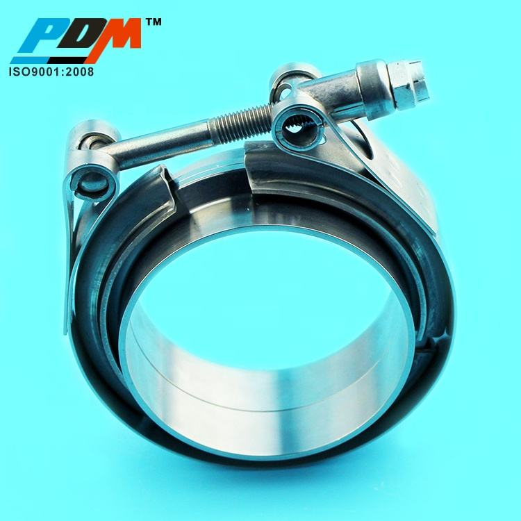 2.25 Stainless Steel Vband Tube Clamp and Male Female Flanges Kit