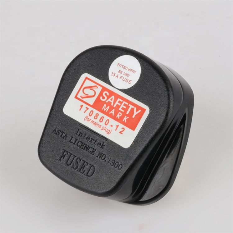 250 volt 13 amp Singapore certified 3 pin British BS1363/A standard plug
