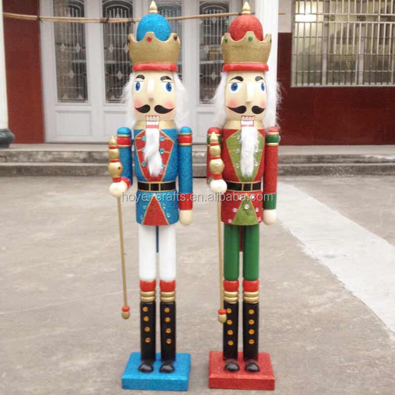 outdoor decorative wooden nutcrackers for sale