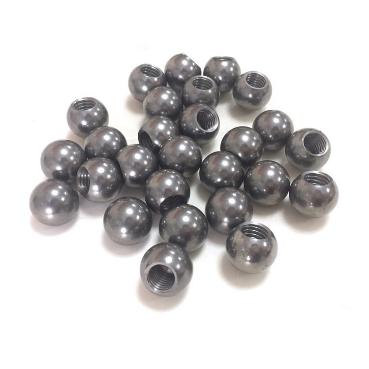 high quality 6mm 8mm 9mm carbon steel ball with m3 threaded hole