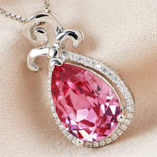 Destiny Jewellery Pink Pendant silver necklace Made with    crystal   from Swarovski