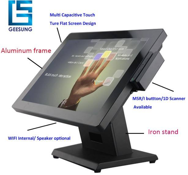 Android/Windows PCAP All In One Touch Screen 15 Inch POS Sistem Pos