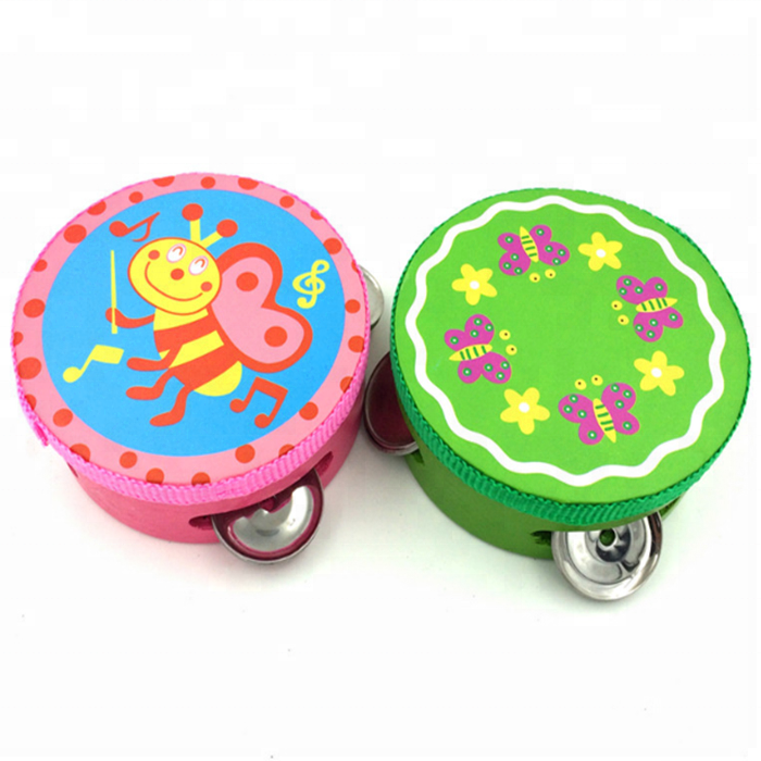Fancy Design and Colorful Wooden Drum Musical Baby Toys Wholesale