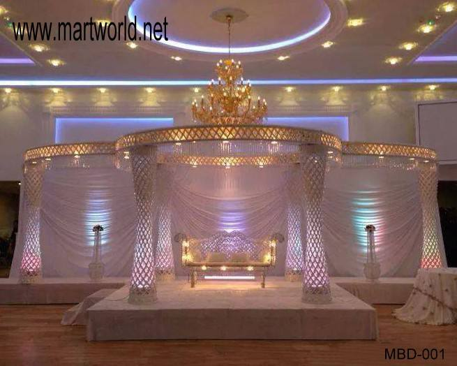 2020 High quality crystal wedding mandap with LED light(MBD-001)
