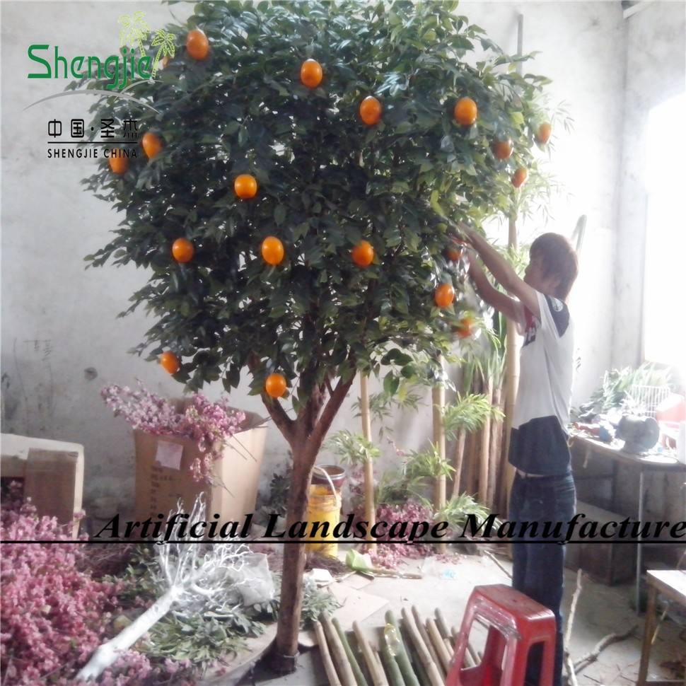 SJ255 indoor artificial orange potted tree with high simulation in GuangZhou