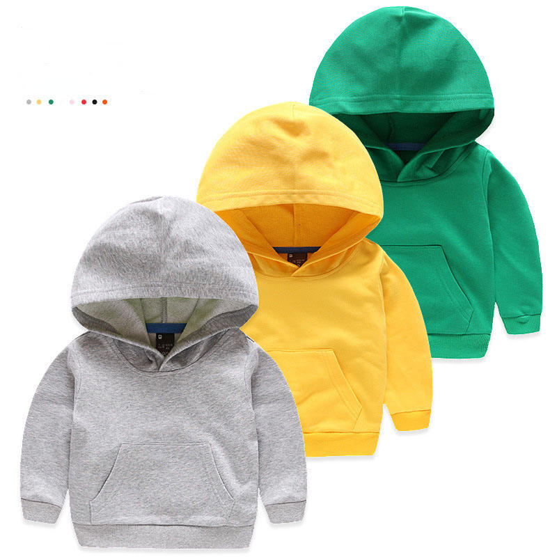 kid 7 colors sports wholesale children plain hoodies for kids pullover boys hoodies