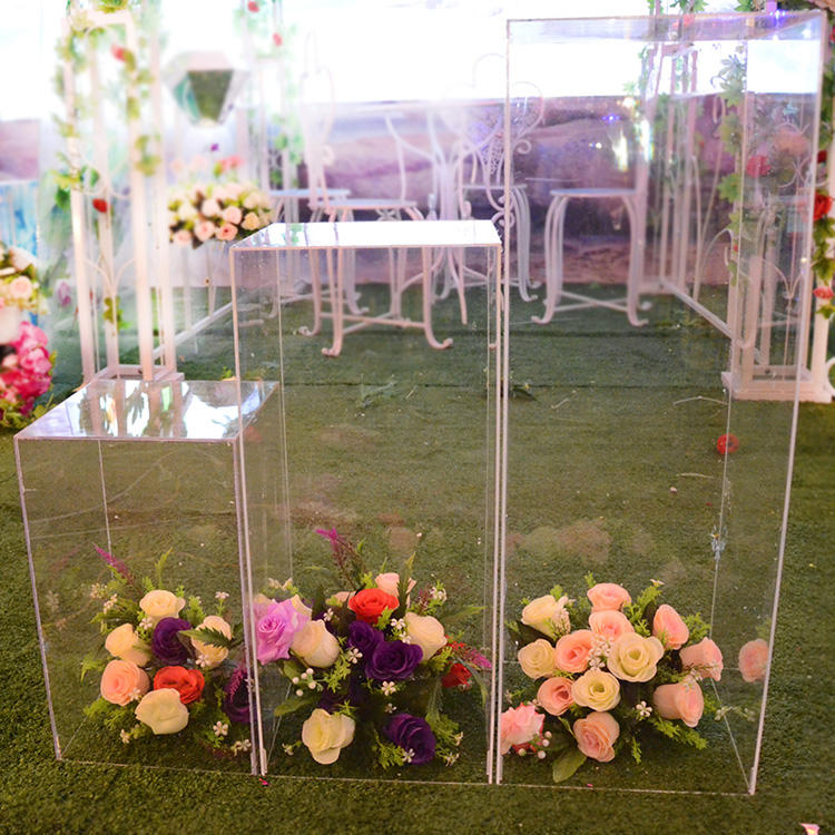 new products plastic wedding decorations clear acrylic wedding columns