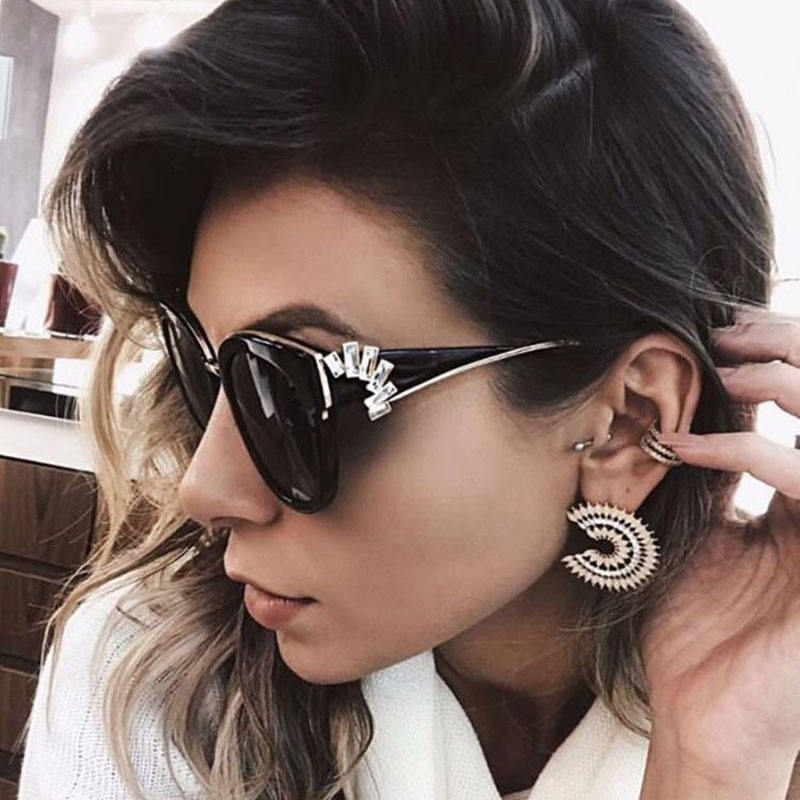 hot selling retro cat eye star New Model Women men Shades Trendy Sunglasses