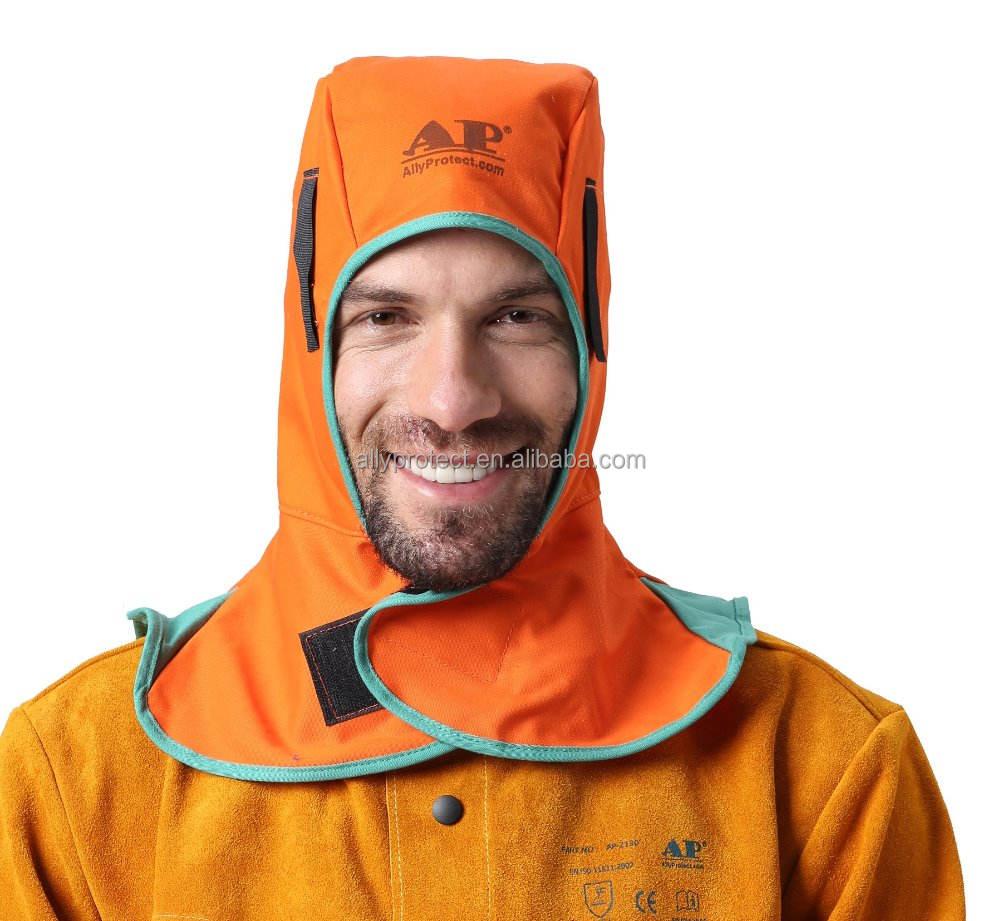 Welding Helmet Protective Hood Neck Protection Cap Torching Hood Orange//Blue