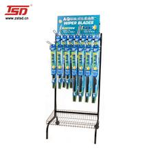 TSD-M360 Custom retail store pos metal display stand for wiper blades,car accessories or windshield wiper display rack