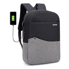 For men and women high quality street Tide goods USB charging backpack can be placed tablets and mobile phone