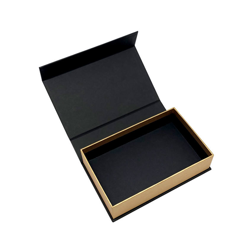 High end luxury black custom cardboard paper magnet close pen win bottle packaging gift folding box