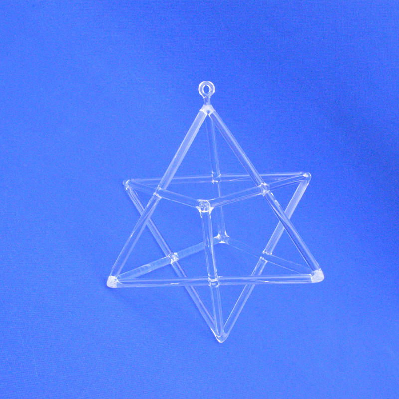 HF Merkaba Star Clear Quartz Crystal Zingen Piramide