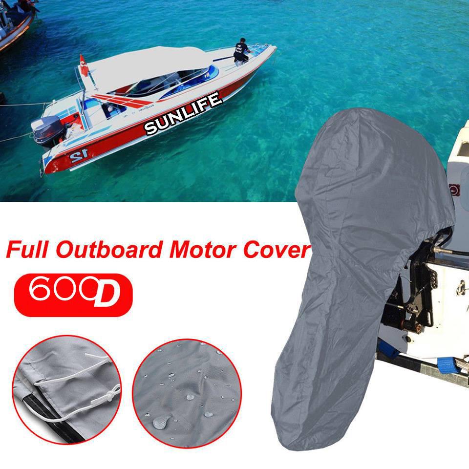 600D Heavy Duty 200HP Boat Full Outboard Engine Motor Cover for 6-15HP Boat Motors Waterproof