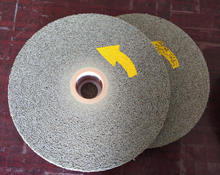 Light deburring and polishing nonwoven convolute abrasive wheel LD 7S FIN 6X1X1 Scotch Bear tex 1000S Long durability